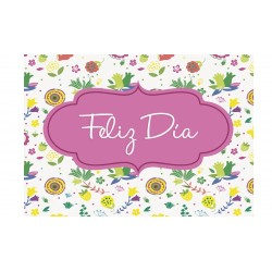 MINI CARD -FELIZ DÍA- FLORES