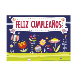 MINI CARD -FELIZ DÍA- FLORECILLAS