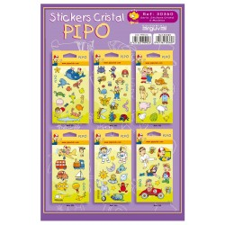 BLISTER STICKERS PIPO CRISTAL