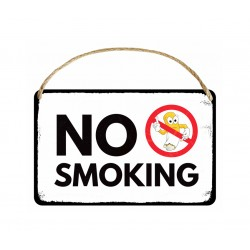 "CHAPA COLGANTE ""NO SMOKING"""