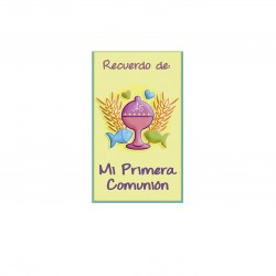 """MINI CARD BABY INGLES """"BY"""""""
